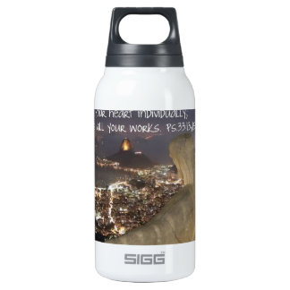 Psalm 33:13, 15 insulated water bottle