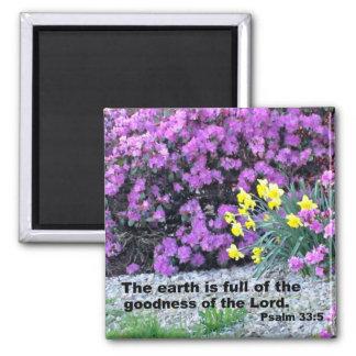 Psalm 33:5 refrigerator magnets