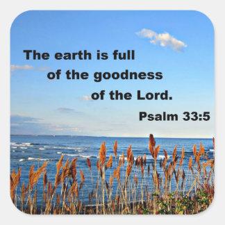 Psalm 33:5 stickers