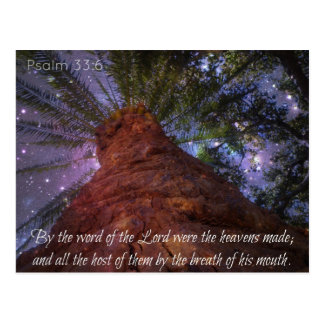 Psalm 33:6 Starry Night Postcard