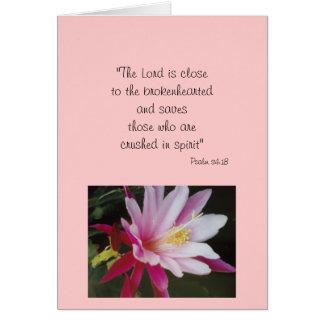 """""""PSALM 34:18"""" CARD"""