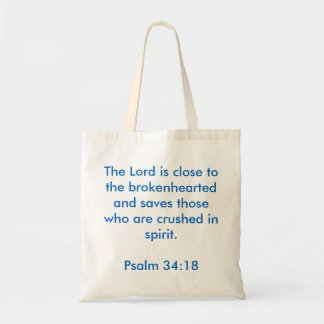 Psalm 34:18 Inspirational Tote Bag