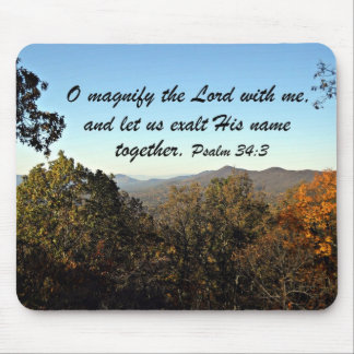 Psalm 34:3 mouse pad