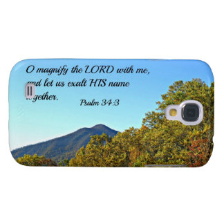 Psalm 34:3 O magnify the Lord with me... Samsung Galaxy S4 Cover