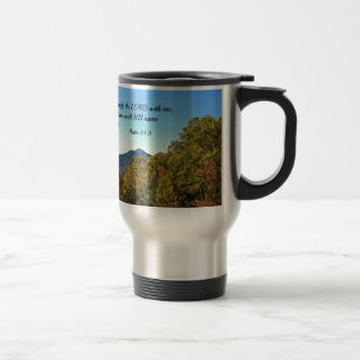 Psalm 34:3 O magnify the Lord with me... Travel Mug