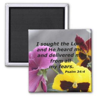 Psalm 34:4 magnet