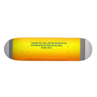 Psalm 34:4 on skateboard