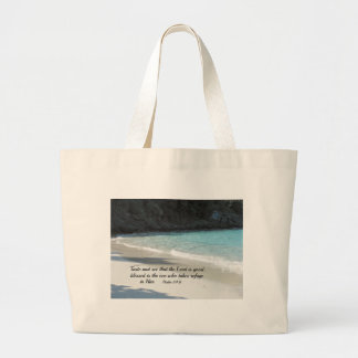 Psalm 34:8 Taste and see that the Lord is good... Jumbo Tote Bag