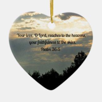 Psalm 36 5 christmas ornament