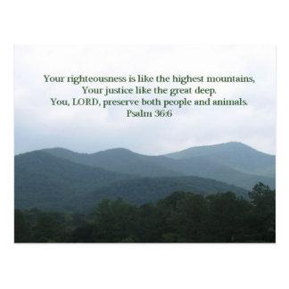 Psalm 36:6 postcard