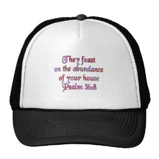 Psalm 36:8 trucker hat