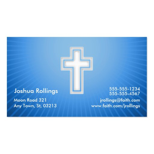 Psalm 37; 4-5 - Christian Business Card