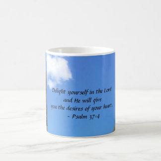 Psalm 37:4 classic white coffee mug