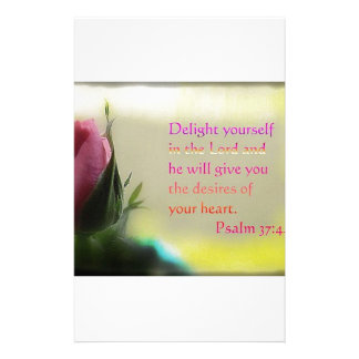 Psalm 37:4 stationery design