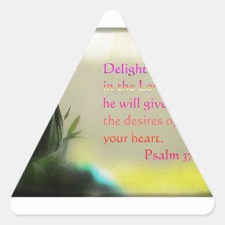 Psalm 37:4 triangle sticker