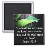 Psalm 37:5 2 inch square magnet