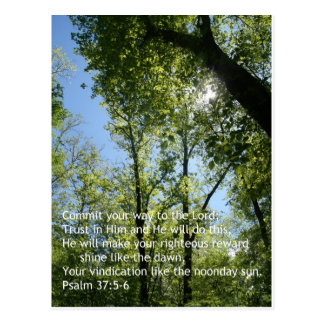 Psalm 37:5-6 post cards