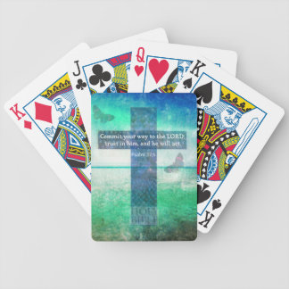 Psalm 37:5  Commit your way to the LORD Bicycle Card Deck