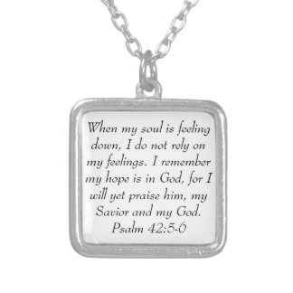 Psalm 42:5-6 bible verse encouragement necklace