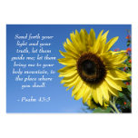 Psalm 43 - Inspirational Quotes - Wallet Card Large Business Cards (Pack Of 100)