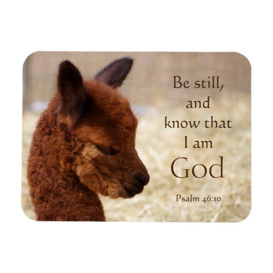 Psalm 46:10 Alpaca Magnet