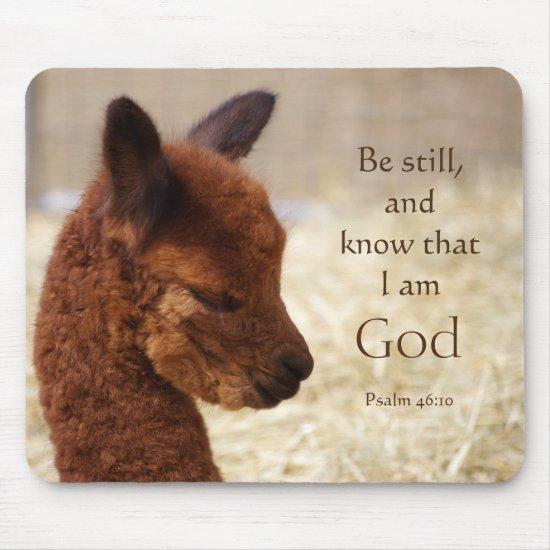 Psalm 46:10 Alpaca Mousepad