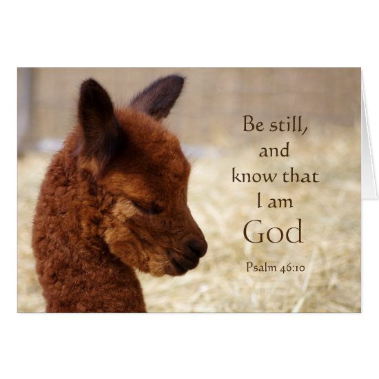 Psalm 46:10 Alpaca Note Card