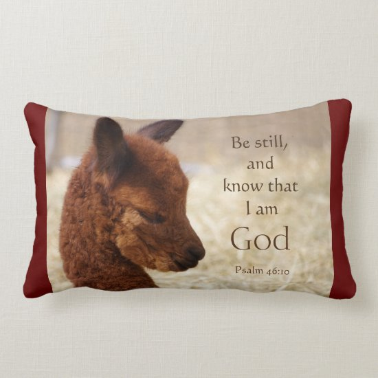 Psalm 46:10 Alpaca Pillow