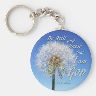 Psalm 46:10 - Be Still and Know Basic Round Button Keychain