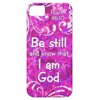Psalm 46:10 Be Still and Know - Bible Verse Quote iPhone SE/5/5s Case