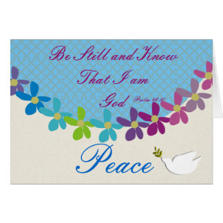 Psalm 46:10 Be Still and Know I am God Notecards Stationery Note Card