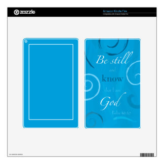 Psalm 46:10 - Be still and know that I am God Decal For Kindle Fire
