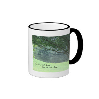 Psalm 46:10 Be still and know that I am God. Ringer Coffee Mug