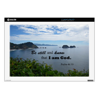"""Psalm 46:10 Be still and know that I am God 17"""" Laptop Decals"""