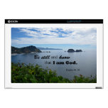 """Psalm 46:10 Be still and know that I am God Skin For 17"""" Laptop"""