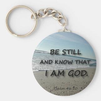 Psalm 46:10 - Be Still Basic Round Button Keychain