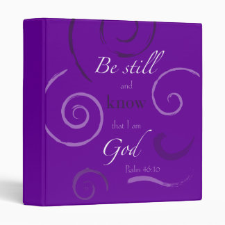 Psalm 46:10 Choose your own color! Customizable 3 Ring Binder