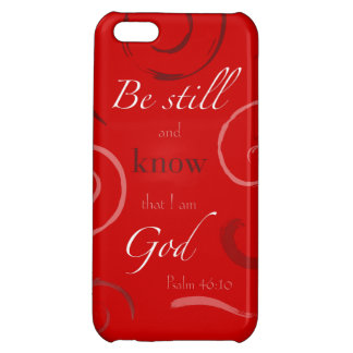 Psalm 46:10 Choose your own color! Customizable iPhone 5C Cover