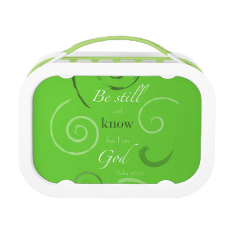 Psalm 46:10 Choose your own color! Customizable Lunch Box