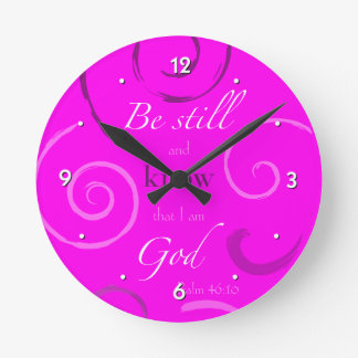 Psalm 46:10 Choose your own color! Customizable Round Clock