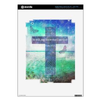 Psalm 46:10  Encouraging Bible Verse iPad 3 Skin