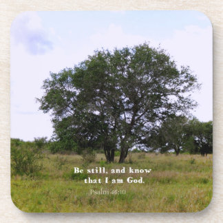 Psalm 46:10 Inspirational Bible Quote Drink Coaster