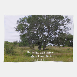 Psalm 46:10 Inspirational Bible Quote Hand Towel