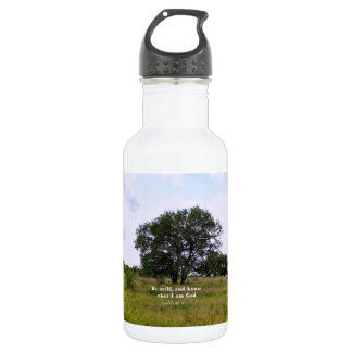 Psalm 46:10 Inspirational Bible Quote Water Bottle