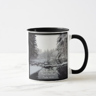 Psalm 46:10 - Winter Scene Mug
