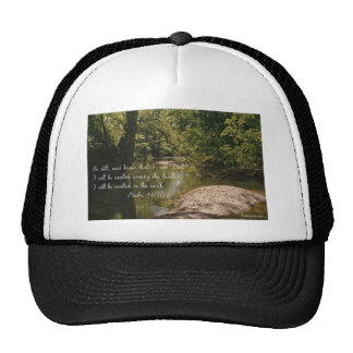 "Psalm 46:10 with image titled ""SERENITY'S EYE"" Trucker Hat"