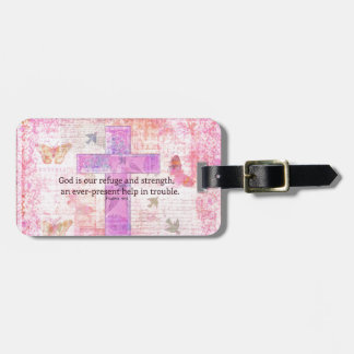Psalm 46:1-3 Encouraging Bible Verse Tags For Bags