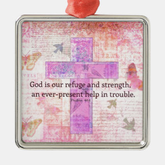 Psalm 46 1-3 Encouraging Bible Verse Christmas Ornament