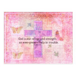 Psalm 46:1-3 Encouraging Bible Verse Postcard