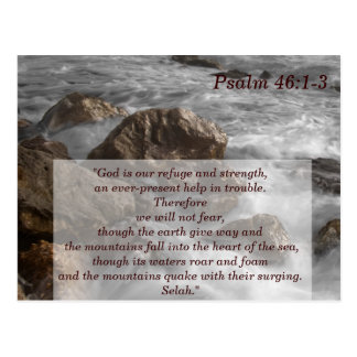 Psalm 46 1-3 Scripture Memory Card